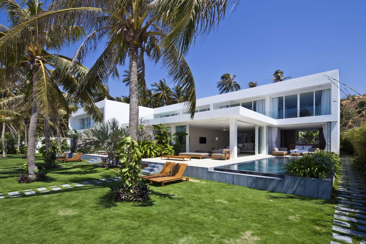 tropical backyard Oceanique, dự án biệt thự sát biển. qpdesign