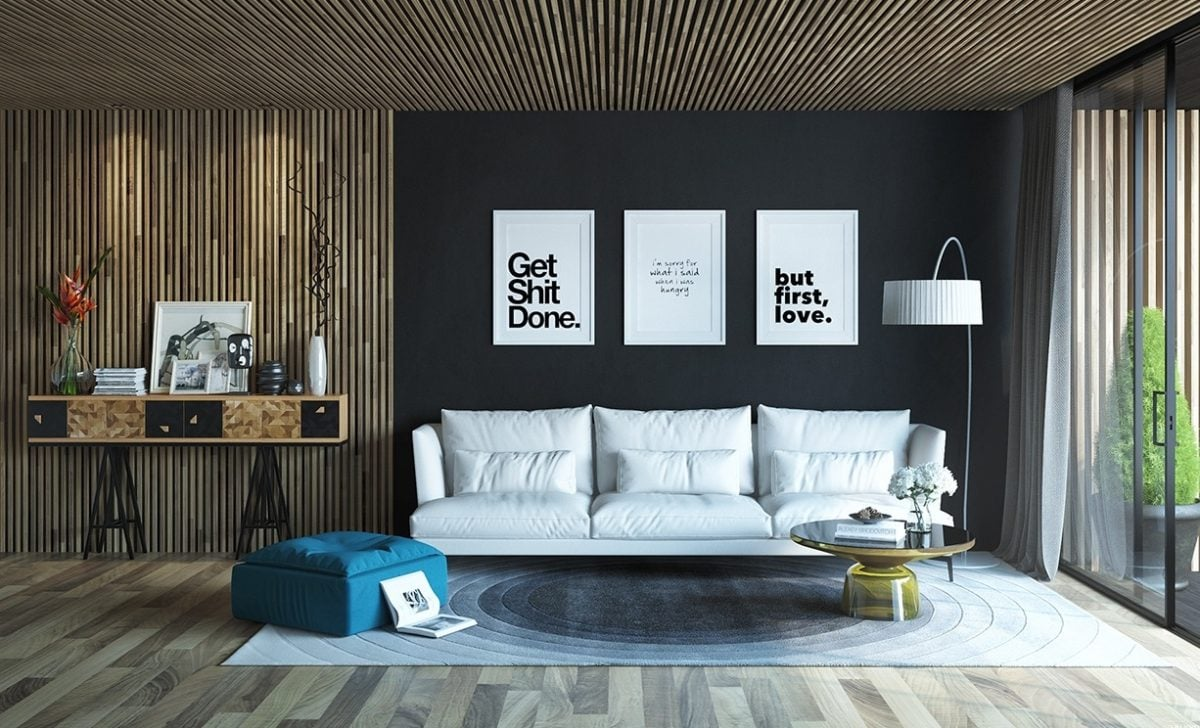 wood-paneled-living-room