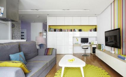 Căn hộ chung cư rực rỡ sắc màu tại Ba Lan