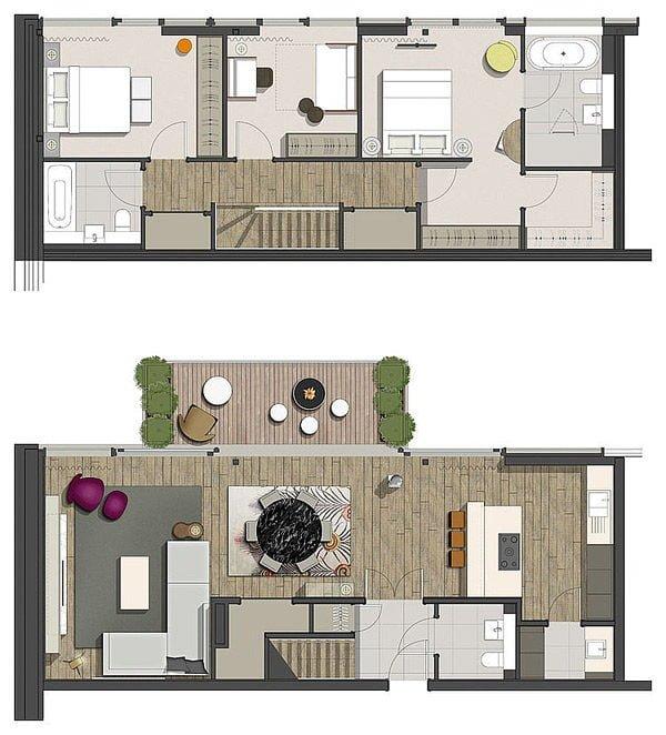 penthouse 14 Căn hộ Penthouse tại Anh với thiết kế ấn tượng qpdesign