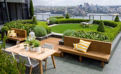 12 mẫu thiết kế vườn sân thượng tuyệt đẹp
