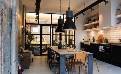 15 mẫu phòng ăn theo phong cách công nghiệp ( LOFT STYLE )