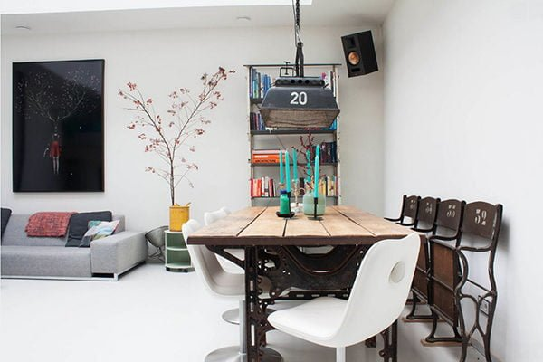phong an 4 15 mẫu phòng ăn theo phong cách công nghiệp ( LOFT STYLE ) qpdesign