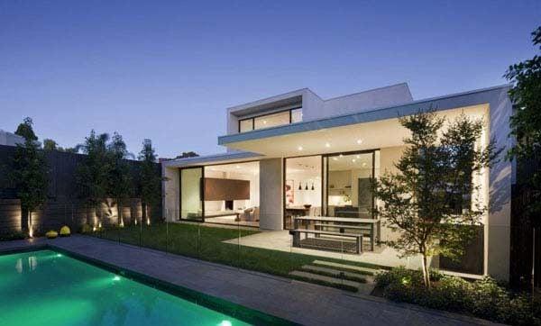 Biệt thự phong cách tối giản.