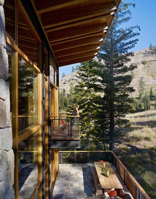 biet thu 16 Cabin trên đỉnh núi tại California. qpdesign