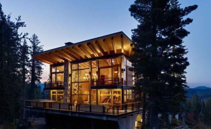 Cabin trên đỉnh núi tại California.