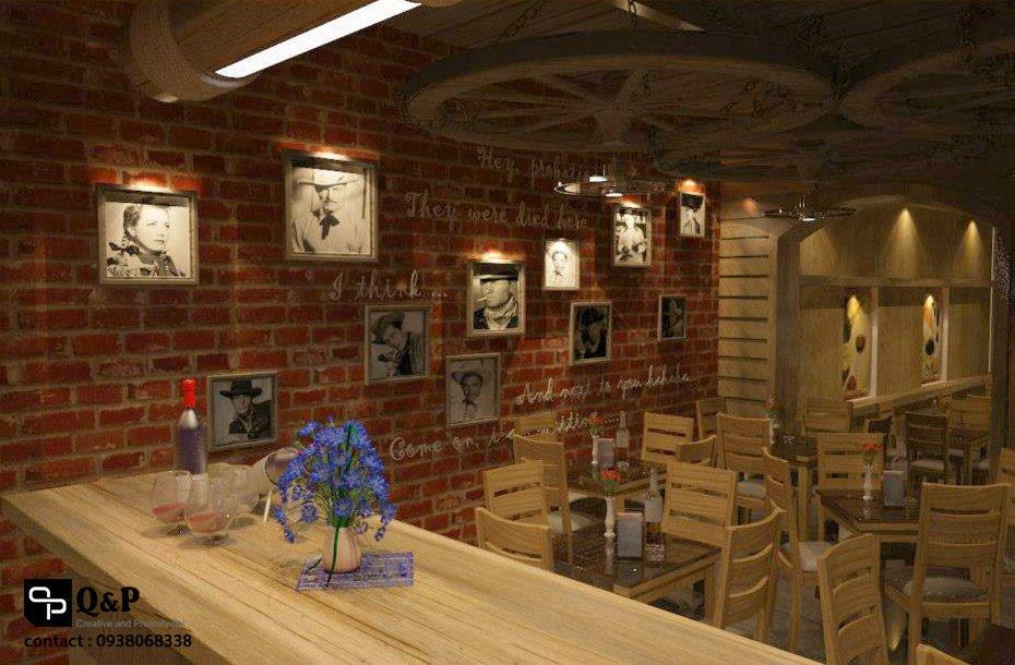 cafe san vuon 13 Thiết kế Cafe Sân Vườn Cowboy qpdesign