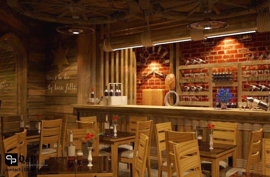cafe san vuon 14 Thiết kế Cafe Sân Vườn Cowboy qpdesign