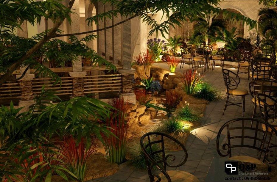 cafe san vuon 2 Thiết kế Cafe Sân Vườn Cowboy qpdesign