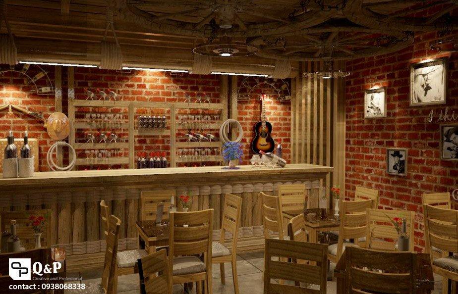 cafe san vuon 5 Thiết kế Cafe Sân Vườn Cowboy qpdesign