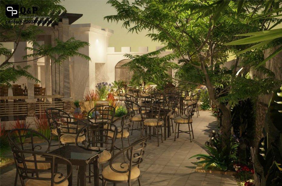 cafe san vuon 7 Thiết kế Cafe Sân Vườn Cowboy qpdesign