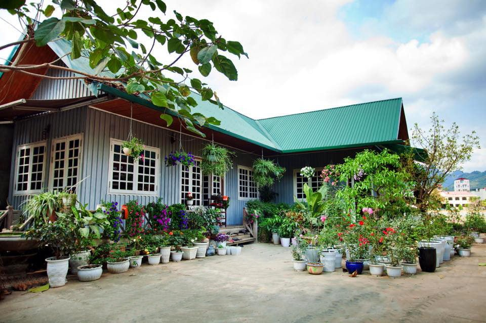 nha go 1 Ngôi nhà gỗ xinh với vườn hồng rực rỡ qpdesign