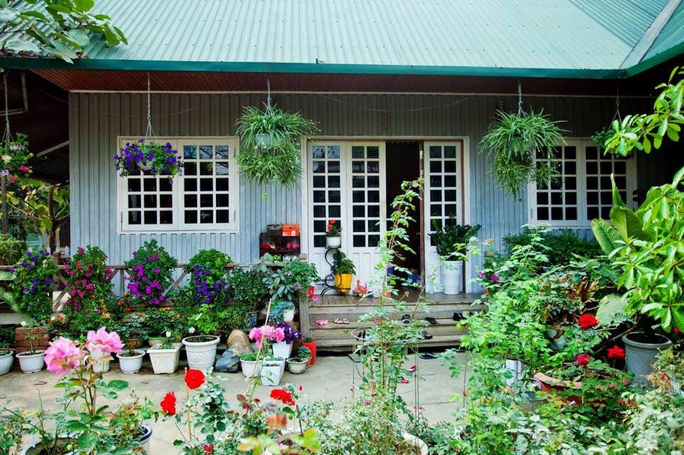nha go 3 Ngôi nhà gỗ xinh với vườn hồng rực rỡ qpdesign