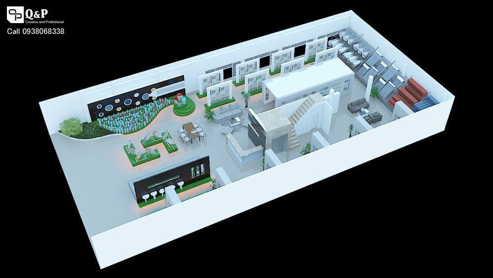 showroom noi that 3 Thiết kế showroom nội thất Thanh Kiều Chư Sê qpdesign