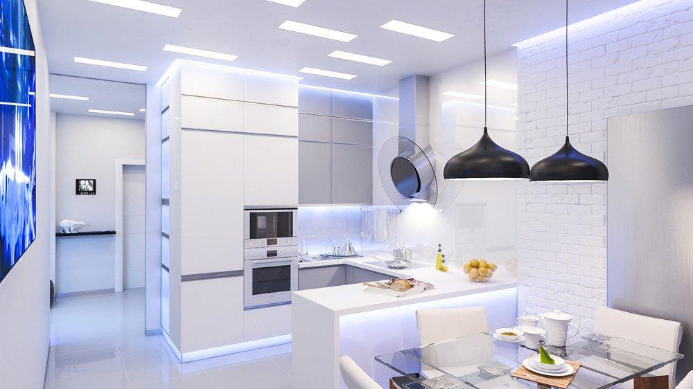 white kitchen 10 mẫu nhà bếp hiện đại cho những người thích nấu nướng (P2) qpdesign