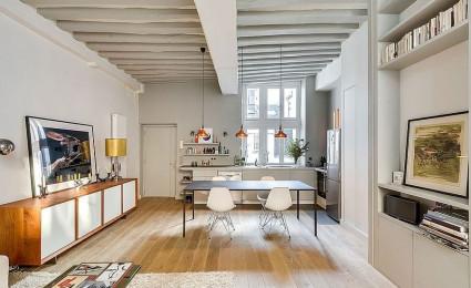 Nội thất căn hộ chung cư đáng yêu tại Pháp