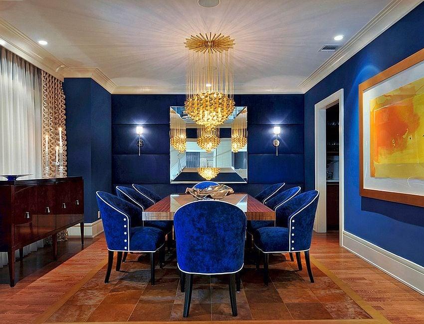 Cách phối màu xanh dương trong nội thất phòng ăn