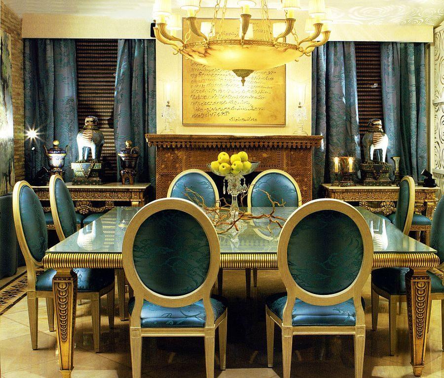 phoi mau noi that 12 Cách phối màu xanh dương trong nội thất phòng ăn qpdesign