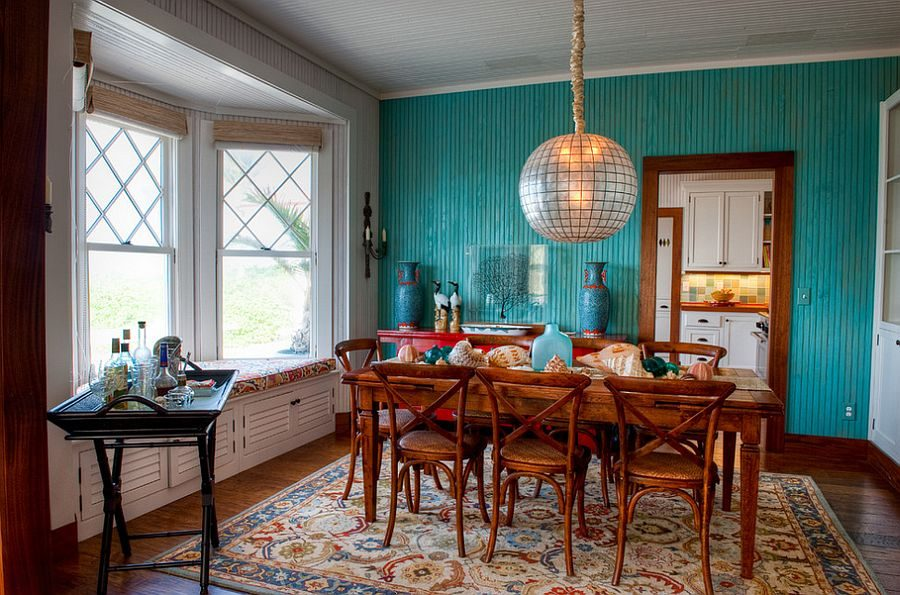 phoi mau noi that 3 Cách phối màu xanh dương trong nội thất phòng ăn qpdesign