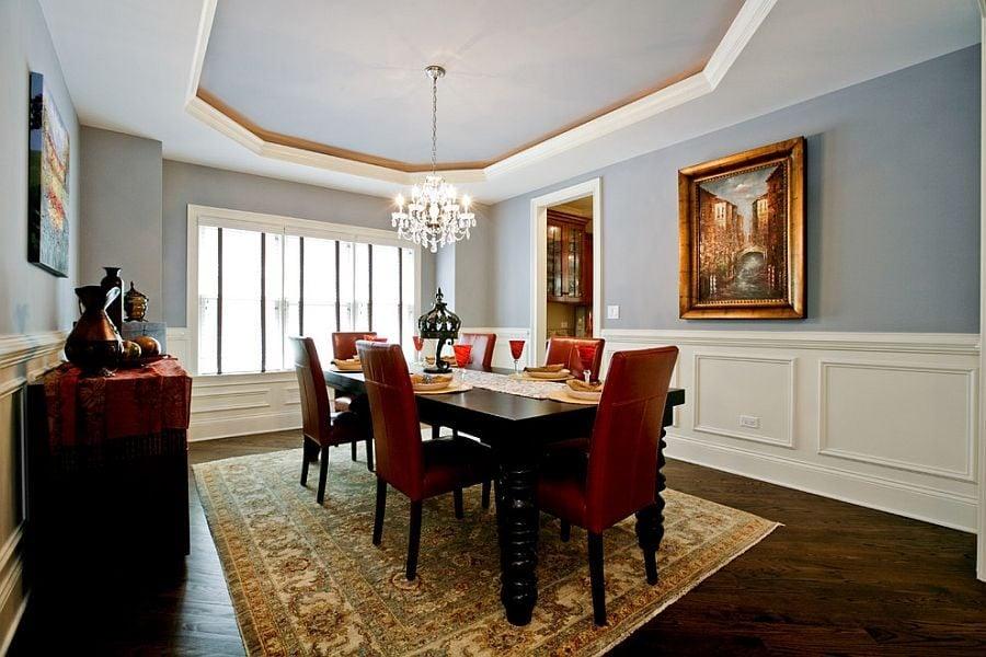 phoi mau noi that 8 Cách phối màu xanh dương trong nội thất phòng ăn qpdesign