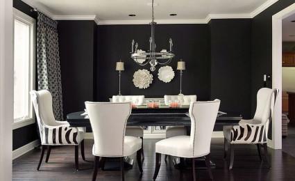Trang trí phòng ăn với tông màu đen