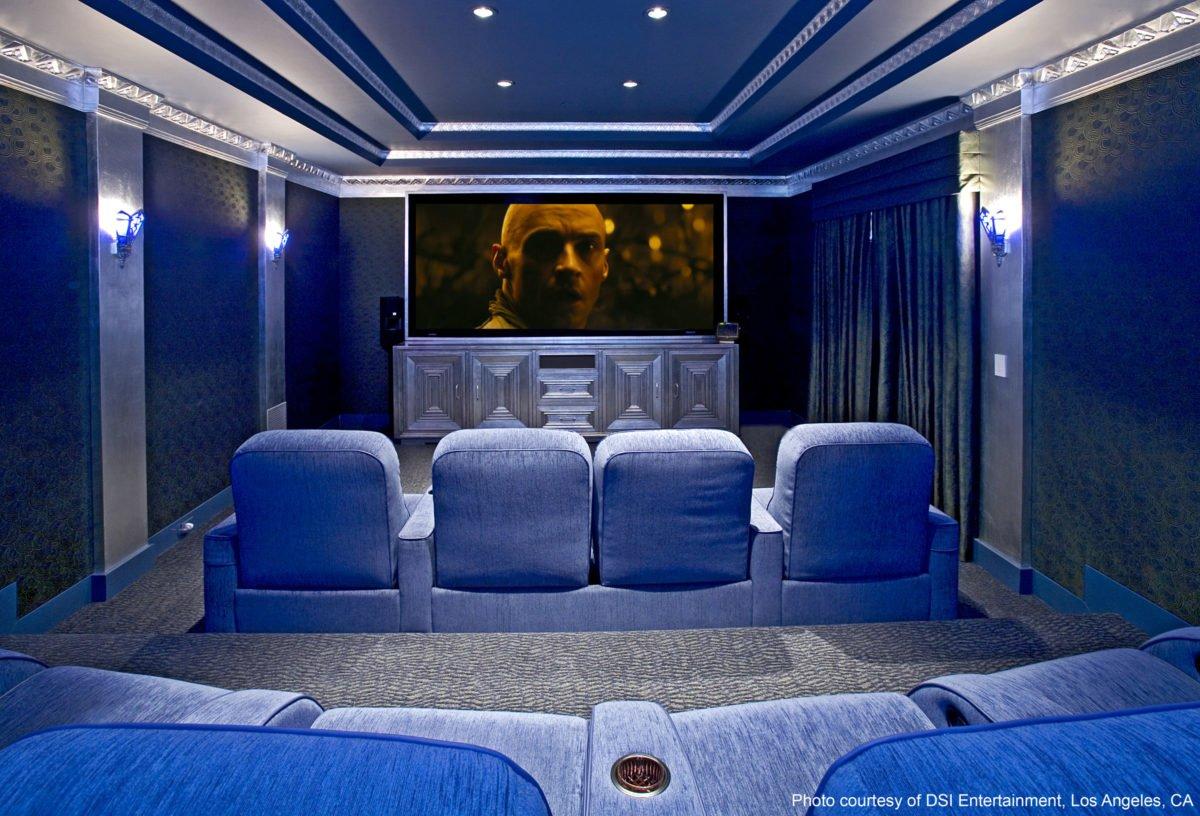 Thiết kế phòng chiếu phim tại gia 0