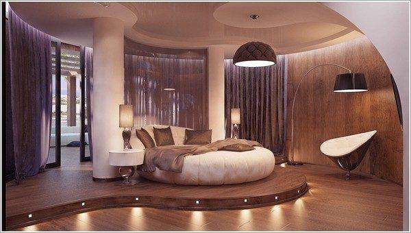 thiết kế phòng ngủ theo phong cách Futuristic