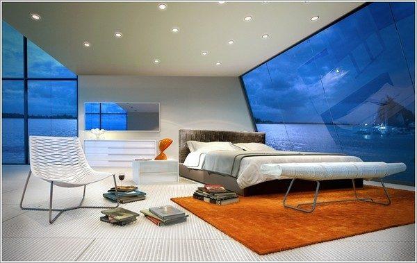 thiết kế phòng ngủ theo phong cách Futuristic 3