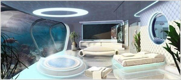 thiết kế phòng ngủ theo phong cách Futuristic 9