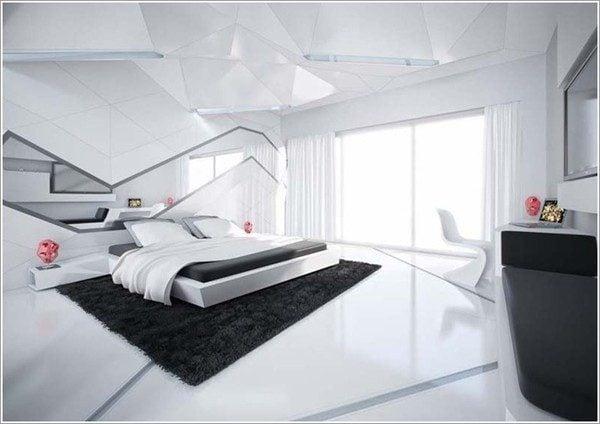 thiết kế phòng ngủ theo phong cách Futuristic 8