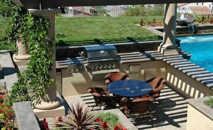 Một số mẫu bếp ăn ngoài trời cho khu vườn của bạn