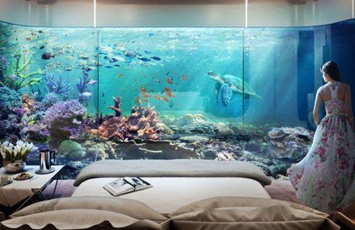 """biet thu dubai 11 Cận cảnh biệt thự """"trên nổi dưới chìm"""" cho giới siêu giàu ở Dubai qpdesign"""