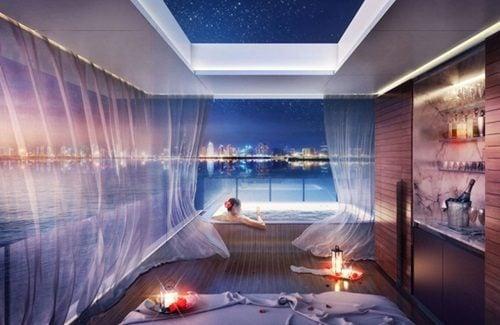 """biet thu dubai 3 Cận cảnh biệt thự """"trên nổi dưới chìm"""" cho giới siêu giàu ở Dubai qpdesign"""
