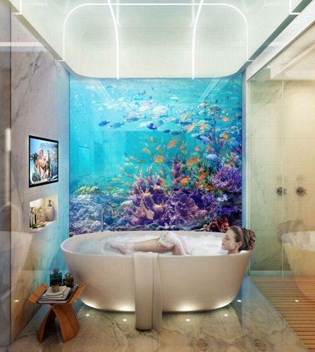"""biet thu dubai 6 Cận cảnh biệt thự """"trên nổi dưới chìm"""" cho giới siêu giàu ở Dubai qpdesign"""