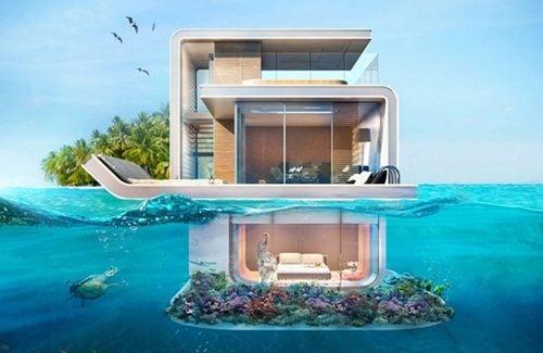 """biet thu dubai 8 Cận cảnh biệt thự """"trên nổi dưới chìm"""" cho giới siêu giàu ở Dubai qpdesign"""