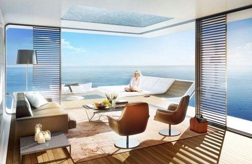 """biet thu dubai 9 Cận cảnh biệt thự """"trên nổi dưới chìm"""" cho giới siêu giàu ở Dubai qpdesign"""