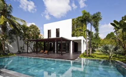 Biệt thự hiện đại và xanh mát ở Thảo Điền