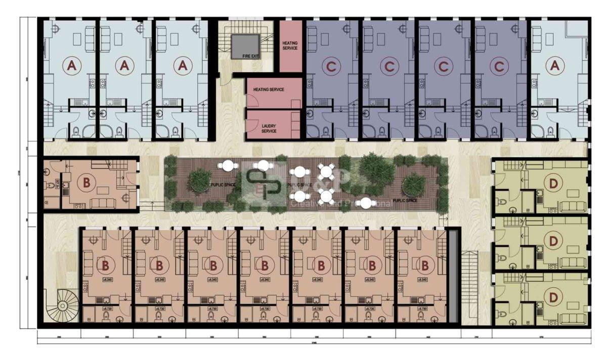 can ho cho thue 3 Thiết kế chung cư mini Ronic qpdesign