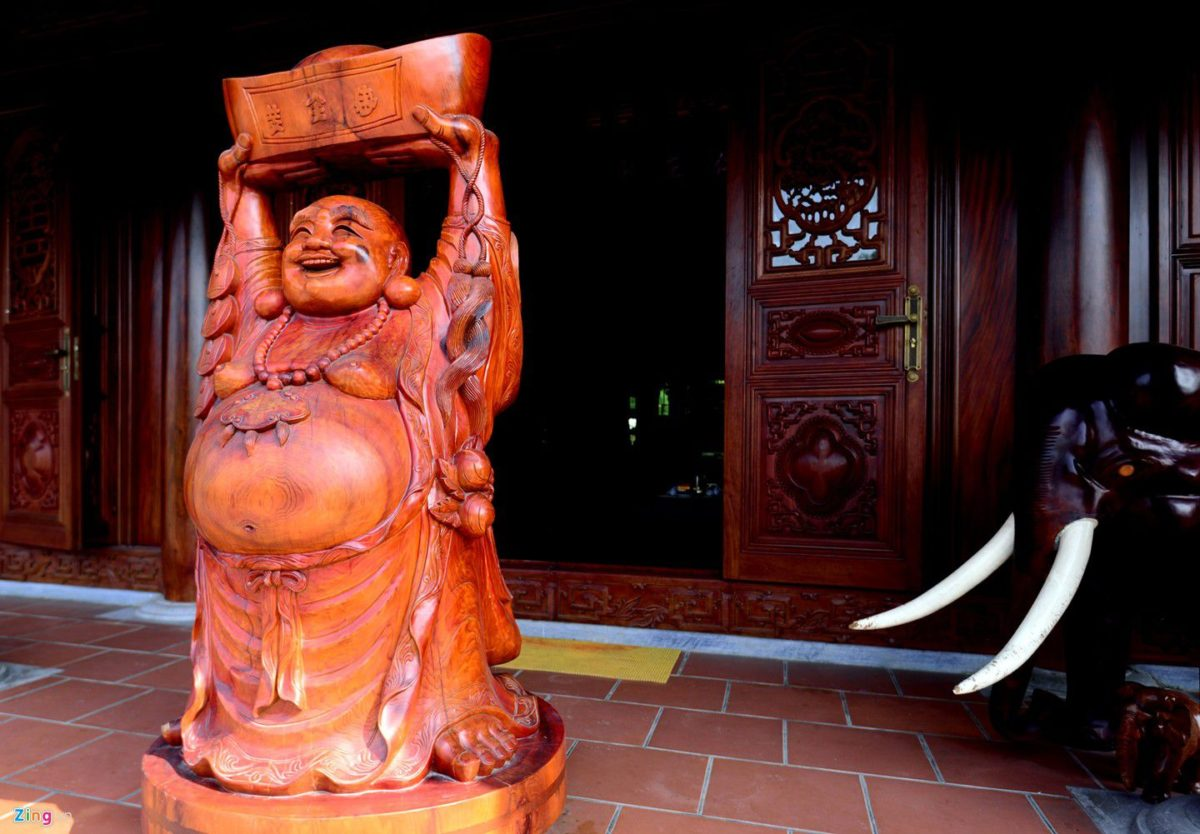 dinh thu 9 qpdesign Tham quan dinh thự bằng gỗ quý của đại gia xứ Nghệ qpdesign