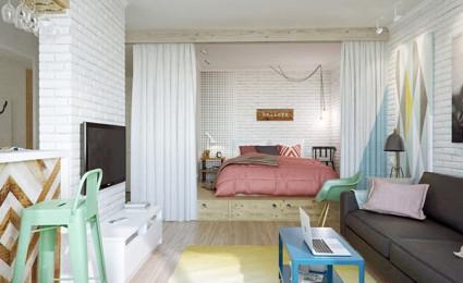 Nội thất chung cư nhỏ xinh tại Nga