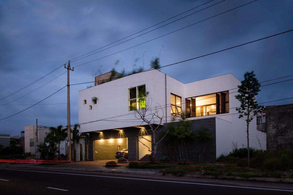 thiet ke nha nho 1 HL House: Thiết kế nhà phố  với 7 không gian xanh ở Quy Nhơn qpdesign