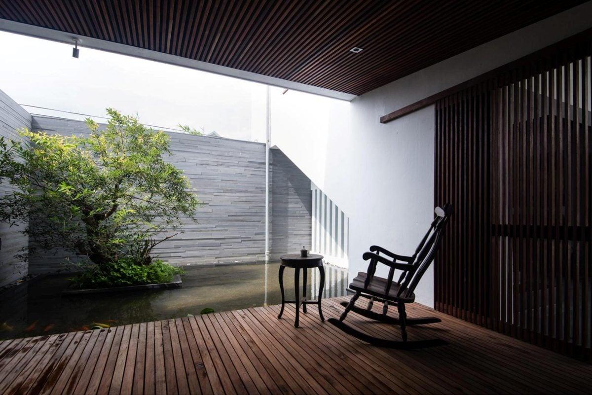 thiet ke nha nho 12 HL House: Thiết kế nhà phố  với 7 không gian xanh ở Quy Nhơn qpdesign