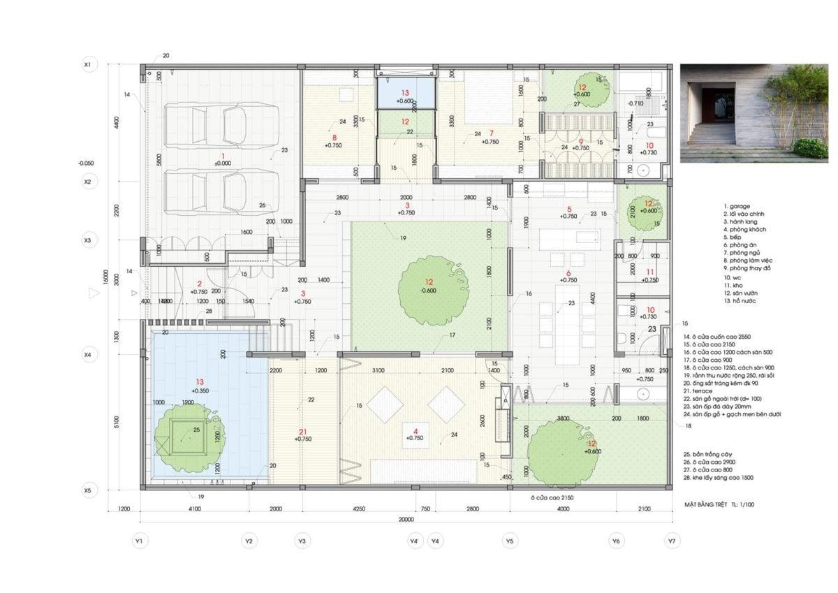 thiet ke nha nho 16 HL House: Thiết kế nhà phố  với 7 không gian xanh ở Quy Nhơn qpdesign
