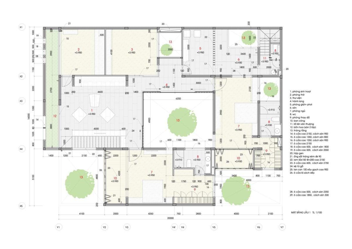 thiet ke nha nho 17 HL House: Thiết kế nhà phố  với 7 không gian xanh ở Quy Nhơn qpdesign