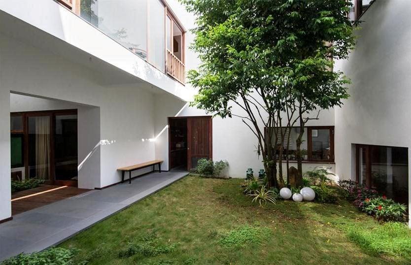 thiet ke nha nho 7 HL House: Thiết kế nhà phố  với 7 không gian xanh ở Quy Nhơn qpdesign