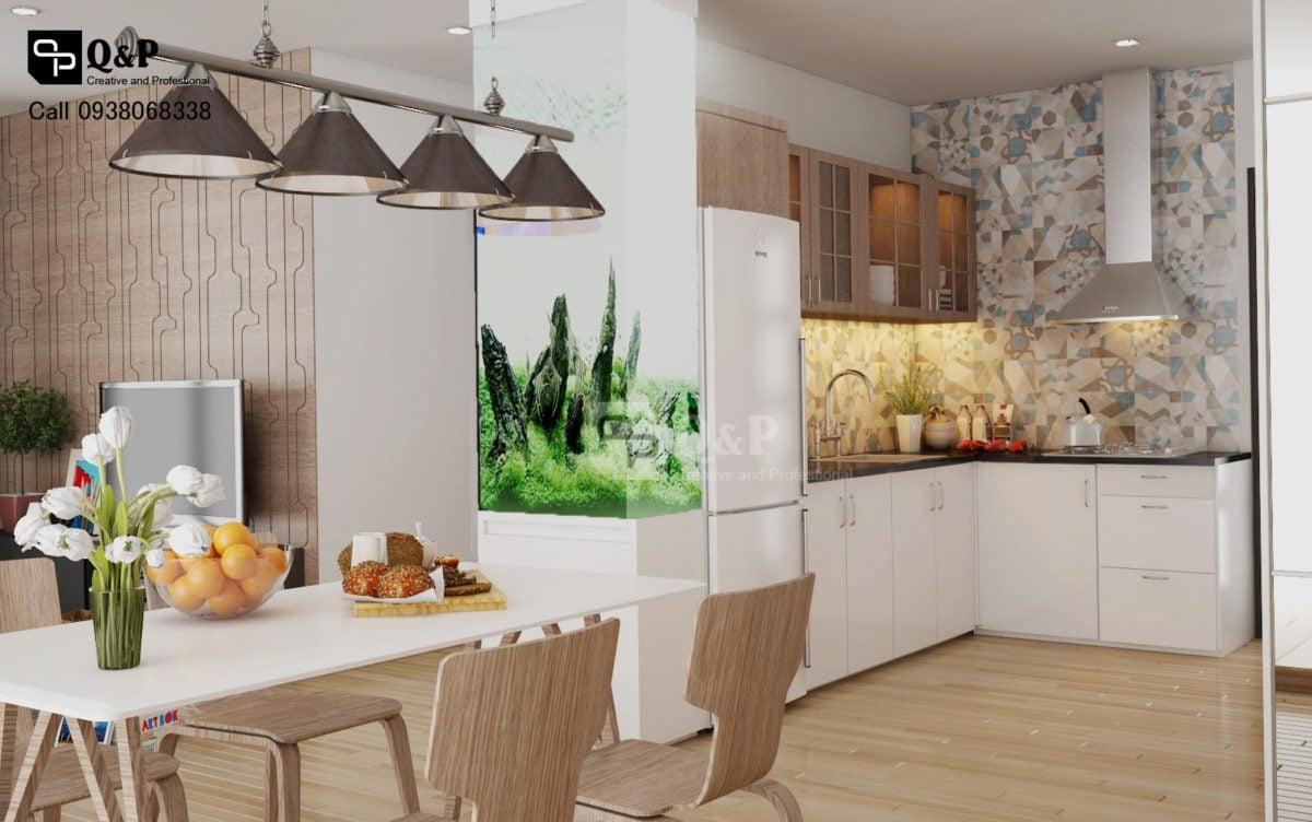 Thiết kế nội thất căn hộ chung cư The Harmona