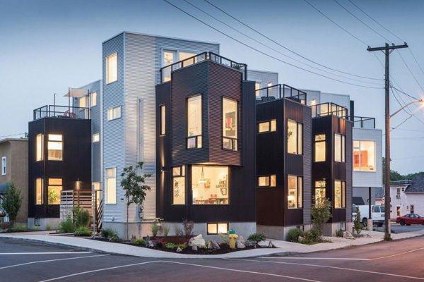 138 Hintonburg Six: Ngôi nhà hình khối độc đáo tại Canada qpdesign