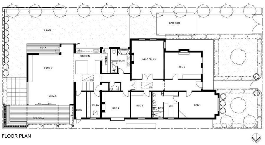1416 Ngôi nhà kết hợp hai phong cách hiện đại và cổ điển tại Úc qpdesign