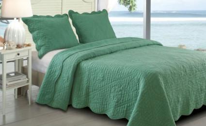 20 loại drap giường linen tông xanh lá cho phòng ngủ thêm sức sống