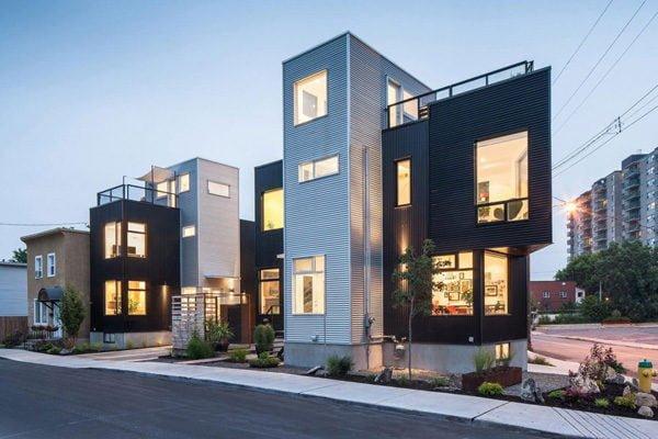 148 Hintonburg Six: Ngôi nhà hình khối độc đáo tại Canada qpdesign